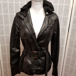 Buttery soft faux leather jacket by Therapy
